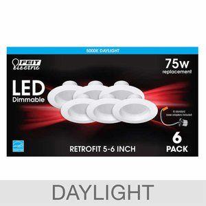 "Feit Electric LED 5""- 6"" Retrofit, 6-pack"
